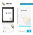 sale tag business logo tab app diary pvc employee vector image