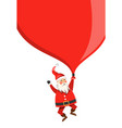 santa claus with sack copy space for your text vector image vector image