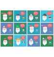 santa clauses from different countries banners vector image