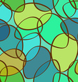 seamless pattern abstract ellipses vector image