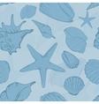 seamless pattern hand drawn seashells vector image vector image