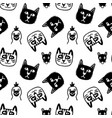 seamless pattern with cute pets vector image vector image