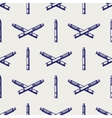 Seamless pattern with hand drawn e-cigarette vector image