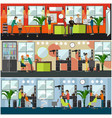 set of barbershop and tattoo studio flat vector image vector image