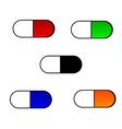 Set of medical pills vector image