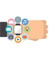 smart watch widget on the wrist vector image
