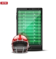 Smartphone with american football ball and field vector image vector image