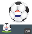 soccer euro netherlands vector image vector image