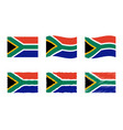 south africa flag set vector image vector image