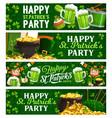 st patricks day cartoon banners with leprechaun