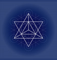 star tetrahedron from metatrons cube sacred vector image