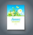 summer nice motif vector image vector image