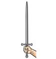 Sword in hand vector image vector image