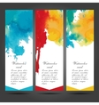 Three business cards template with hand vector image vector image