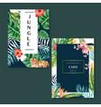 tropical card invitation design summer vector image vector image