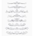 vintage divider patterns vector image vector image