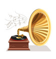 vintage gramophone with retro vector image