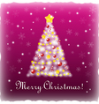 White Xmas tree on a pink background vector image
