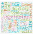 Why Eat Vegetarian text background wordcloud vector image vector image