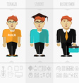 Stage of education age and progress vector image