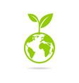 Eco icon green earth vector image