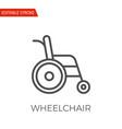 wheelchair icon vector image