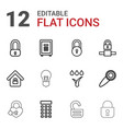 12 lock icons vector image vector image