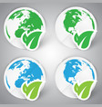 a set of eco paper earth vector image
