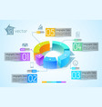 abstract business diagram infographics vector image vector image