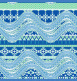 abstract sea waves background ethnic seamless vector image vector image