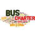 arizona charter bus rental tips text background vector image vector image