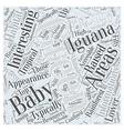 Baby Green Iguana Word Cloud Concept vector image vector image