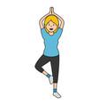 beautiful woman dancing vallet vector image vector image
