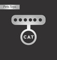 black and white style icon cat collar vector image vector image