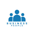 business people logo icon element design template vector image
