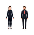 businessman and business woman dressed in suits vector image