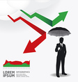 Businessman in Umbrella creative Finance safe idea vector image vector image
