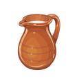 ceramic jug with milk vector image
