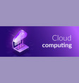 cloud computing 3d isometric concept the process vector image vector image
