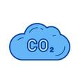 co2 emission line icon vector image