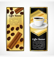 Coffee banners vertical vector image vector image