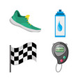 colorful set icon related with running and vector image