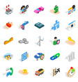 commercial icons set isometric style vector image vector image
