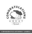 congratulation label vector image