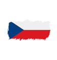 czechia flag vector image vector image