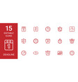 deadline icons vector image vector image