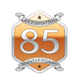 Eighty five years anniversary celebration silver vector image vector image