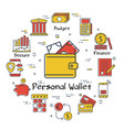 finance banking concept - personal wallet vector image vector image