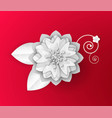 flower made paper origami asian art vector image