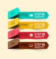 four steps infographic design infographic layout vector image vector image